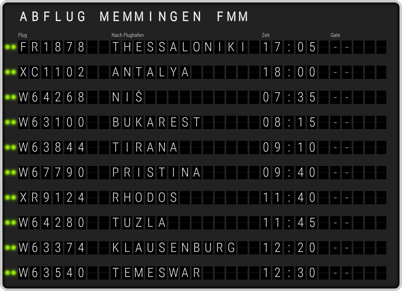 Memmingen Abflug FMM. Aktuelle Abflugzeiten am Flughafen Memmingen